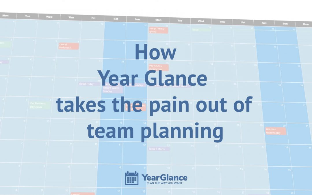 How Year Glance helps manage your team without the planning pains