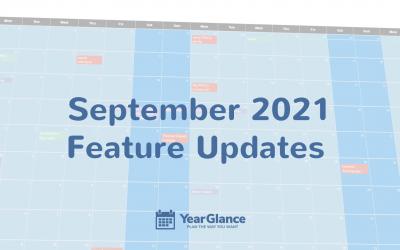 September 2021 Feature Updates